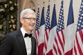 Tim Cook, CEO of Apple Inc, arriving for the state dinner for French President Emanuel Macron at the White House in Washington on Tuesday. Photo: Bloomberg