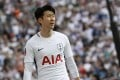 Tottenham's Son Heung-min reacts after missing a chance during the English FA Cup semi-final at Wembley. Photo: AP