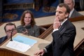 French president Emmanuel Macron delivered a thinly veiled attack on Trump's 'America first' isolationism and nationalism during his speech to the US Congress, calling them a threat to world prosperity. Photo: Bloomberg