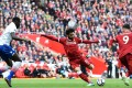 Liverpool's Egyptian midfielder Mohamed Salah controls the ball during the English Premier League football match between Liverpool and Stoke City at Anfield. Photo: AFP