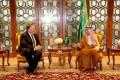 US Secretary of State Mike Pompeo meets with Saudi Foreign Minister Adel Al-Jubeir in Riyadh, Saudi Arabia, on Friday. Photo: Saudi Press Agency handout via Reuters