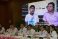 Rachanond Rungsawang, 26, seen on the screen with his mother, said he had contemplated suicide before doctors gave him a completely new lease on life with the triple-transplant operation. Photo: Pawat Laopaisarntaksin/Bangkok Post
