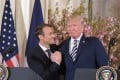French President Emmanuel Macron and US President Donald Trump attend a press conference at the White House in Washington on April 24. The seemingly warm relationship between the two leaders is in stark contrast to the differences between the US and Europe on a range of policy issues, particularly trade. Photo: Xinhua