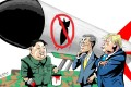 Kim Jong-un may be putting on a show of agreeing to denuclearisation efforts to lift sanctions and ease international pressure on North Korea. llustration: Craig Stephens