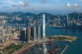 Victoria Harbour and West Kowloon.