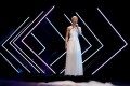 """United Kingdom's SuRie performs """"Storm"""" during the Grand Final of Eurovision Song Contest 2018 at the Altice Arena hall in Lisbon, Portugal, on Saturday. Photo: Reuters"""