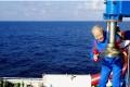 Wang Pingxian boards the Deepwater Warrior ahead of Sunday's voyage. Photo: Xinhua