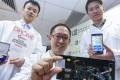 From left) Baptist University scientists Zhong Zezhi, Dr Ren Kangning and Sun Han. Photo: Winson Wong