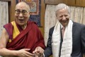 The US ambassador to India, Kenneth Juster (right), meets the Dalai Lama at theexiled spiritual leader's home inDharamsala, India, on May 4. Juster expressed hopes that the Dalai Lama would make another trip to the US. Photo: Twitter