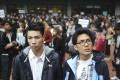 Baptist University student Lau Tsz-kei (left) did not protest the school's disciplinary decision, but Andrew Chan Lok-hang (right) did. His appeal was rejected. Photo: Winson Wong