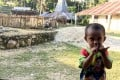 With only dangerous oil maps for illumination at night, children who live in Weepatando village in Southwest Sumba are finding it hard to excel due to poor lighting at their houses. Photo: Resty Woro Yuniar