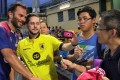 Former Liverpool star Patrik Berger take spictures with fans at the 2016 HKFC Citi Soccer Sevens at the Hong Kong Football Club. Photo: Kevin Kung
