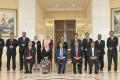 Malaysian Prime Minister Mahathir Mohamad and his cabinet members. Photo: EPA