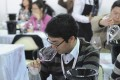 People attend a wine tasting course in Shanghai. Last year, the mainland imported 746 million litres of wine. Photo: AFP