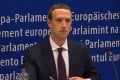 Facebook CEO Mark Zuckerberg at the European Union headquarters in Brussels on Tuesday. Photo: AFP/EBS