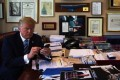 Donald Trump, seen in his Trump Tower office before becoming US president, is renowned for his idiosyncratic Twitter habits. Photo: Supplied
