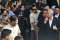 Former Malaysian Prime Minister Najib Razak leaves the Malaysian Anti-Corruption Commission office. Photo: AP