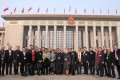 Hong Kong delegates to the National People's Congress in front of the Great Hall of the People in Beijing. Photo: Simon Song