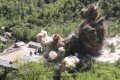 Command post facilities of North Korea's nuclear test site are exploded in Punggye-ri, North Korea on Thursday, May 24, 2018. Photo: AP