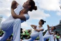 There has been a sharp rise in the number of people from China participating in workshops and classes at the Asia Yoga Conference in Hong Kong. Photo: AFP
