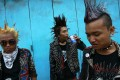 Punks in Yangon, where once they would have been beaten up just for the way they dress. Photo: Reuters