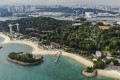 Aerial view of Sentosa, a popular island resort in Singapore, seen last Wednesday. Photo: SCMP/Roy Issa