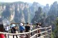 Tourists on Yuanjiajie viewing platforms in Zhangjiajie National Forest Park. Photo: Ed Gerstner