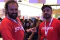 Jambro founders Jasir Abro (left) and Shahzaib Zulfiqar (right) at the Singapore Innovfest Unbound conference this week. Photo: SCMP