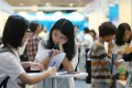 Jobseekers at fair in Hong Kong. About 60 per cent of Hong Kong youth say they cannot find jobs they like. Photo: David Wong