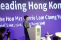 Chief Executive Carrie Lam Cheng Yuet-ngor spoke at the ULI Asia Pacific Summit on Wednesday. Photo: K.Y. Cheng