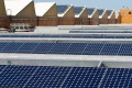 Solar panels sit on the roof of SunPower Corp. in Richmond, California in 2010. Photo: Reuters