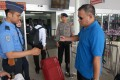 Security checks at the international airport in Cengkareng on the outskirts of Jakarta. Photo: AFP