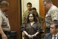 Pearl Fernandez enters the courtroom to receive a sentence of life in prison without the possibility of parole for her role in the death of her son, Gabriel, in the Los Angeles Superior Courtroom of Judge George Lomeli on Thursday. Photo: TNS