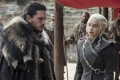 Kit Harington, playing Jon Snow, and Emilia Clarke, playing Danaerys Stormborn, are seen in the seventh season finale of 'Game of Thrones'. Photo: HBO via AP