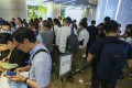 Buyers queue up for Cetus. Square Mile development at One International Finance Centre (IFC) in Central on 9 June 2018. Photo: SCMP / Edmond So