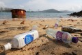 Plastic bottles on a beach at Sham Tseng in the New Territories. Photo: Winson Wong