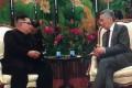 Kim Jong-un and Singaporean PM Lee Hsien Loong. Photo: Handout
