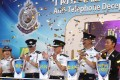 Police on Sunday kick off a campaign to raise awareness of phone scams. Photo: K. Y. Cheng