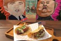 Rocket Man Taco and an El Trumpo Taco from Mexican restaurant and bar Lucha Loco. Photo: Lucha Loco