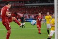 Shanghai SIPG's Wang Shenchao scores against Guangzhou Evergrande during the 2017 AFC Champions League quarter-final. Photo: AFP