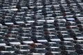 New cars on a lot at the Auto Warehousing Company near the Port of Richmond in northern California last month. Photo: Getty Images/AFP