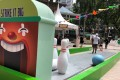 Grab funfair in Singapore to promote its rewards programme.