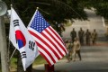 After his summit with North Korean leader Kim Jong-un, US President Donald Trump said he might call off joint military drills with South Korea. Photo: Reuters