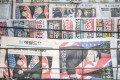South Korean newspapers with front pages featuring US President Donald Trump and North Korean leader Kim Jong-un. Photo: Bloomberg