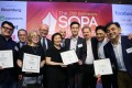 Staff from the South China Morning Post at the SOPA 2018 Awards. Photo: Dickson Lee