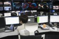 Officials at the Korea Internet & Security Agency (KISA) check internet systems. Photo: EPA