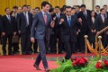 Canadian Prime Minister Justin Trudeau and Chinese Premier Li Keqiang at the Great Hall of the People in Beijing in 2017. Photo: AFP