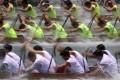 Hongkongers take to the water for China's traditional paddling sport. Photo: Sam Tsang