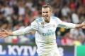 Gareth Bale scores in the Champions League final. Photo: EPA