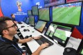 A view of the video assistant refereeing operation room at the 2018 Fifa World Cup international broadcast centre in Moscow. Photo: AFP